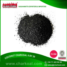 Low Sulphur Contain Coconut Charcoal with Long Burning Light for Bulk Buyers