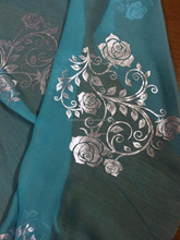Chiffon Scarf with Foil Prints pure silk