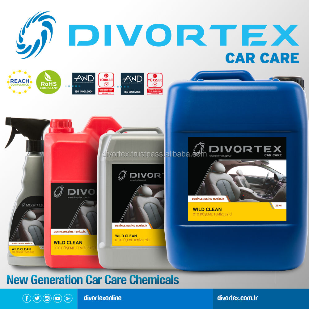 CAR CARE DETAILING CLEANER CAR CARE INTERIOR CLEANER CAR SEAT COVER CLEANER DIVORTEX CAR CARE WILD CLEAN DETAILING CLEANER