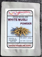 Safed Musli White Musli powder Chlorophytum Borivilianum Indian Herbs