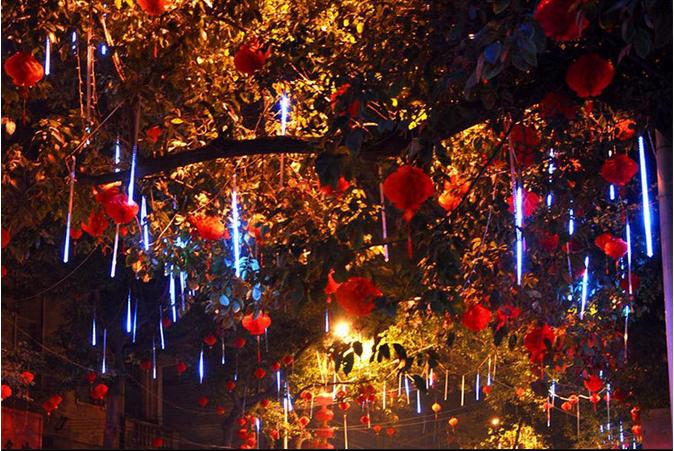 30cm waterproof meteor shower rain tubes led lighting for wedding decoration christmas holiday led meteor light
