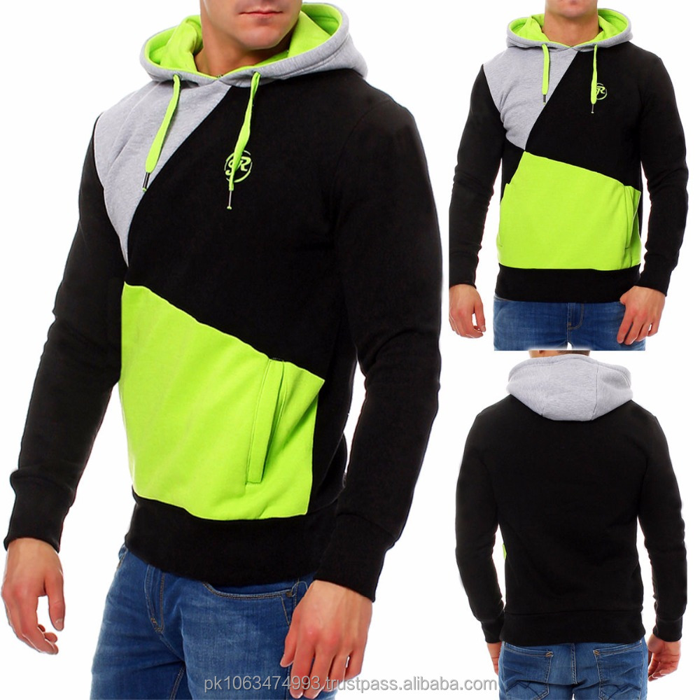 Just Men's Sweatshirt Neon Hoodie Hooded Sweater