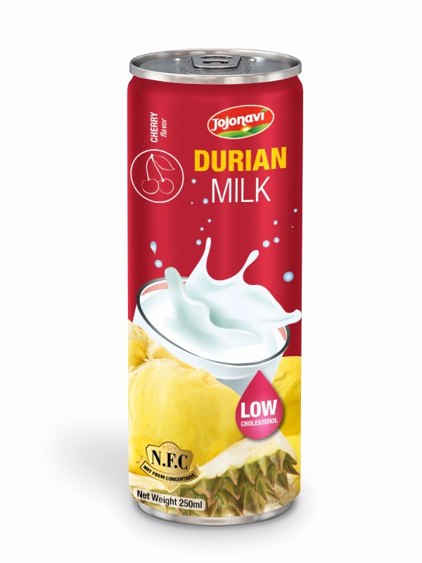 Fruit juice suppliers Durian milk with cherry flavour for alu can 250ml