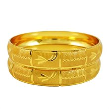 18k Gold Plated Bangles Set Traditional South Indian Jewelry For Women 2*10 BSG1375E