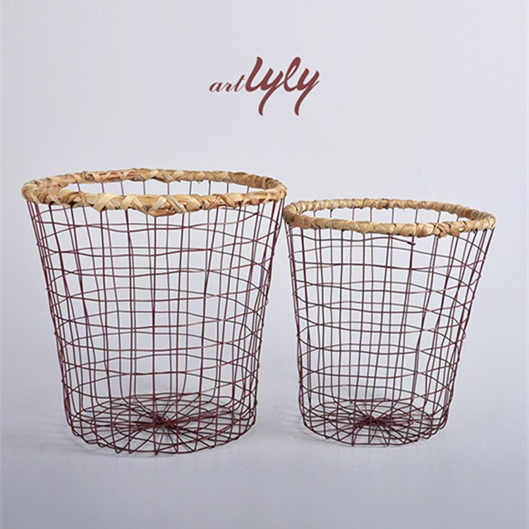 cheap wire laundry basket wire baskets for sale from Linyi