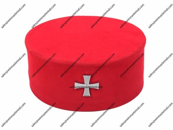Masonic Knight Templar KT Cap Hat with Red Cross