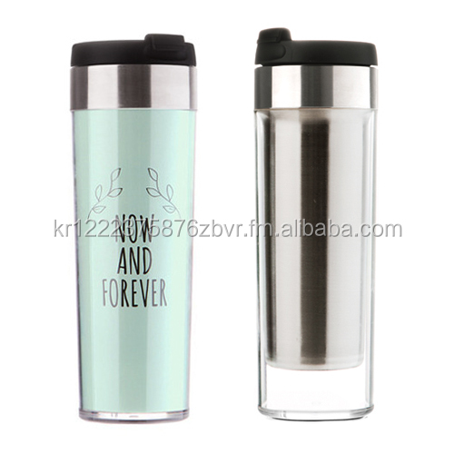 TEASCAFE Double Wall Stainless Steel Tumbler with paper insert / 12oz(350ml) / Custom logo design