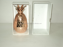 Rose gold Copper drinking cocktail Pineapple mug, Pineapple mug silver shiny color, Gold Brass Pineapple 2pc mug