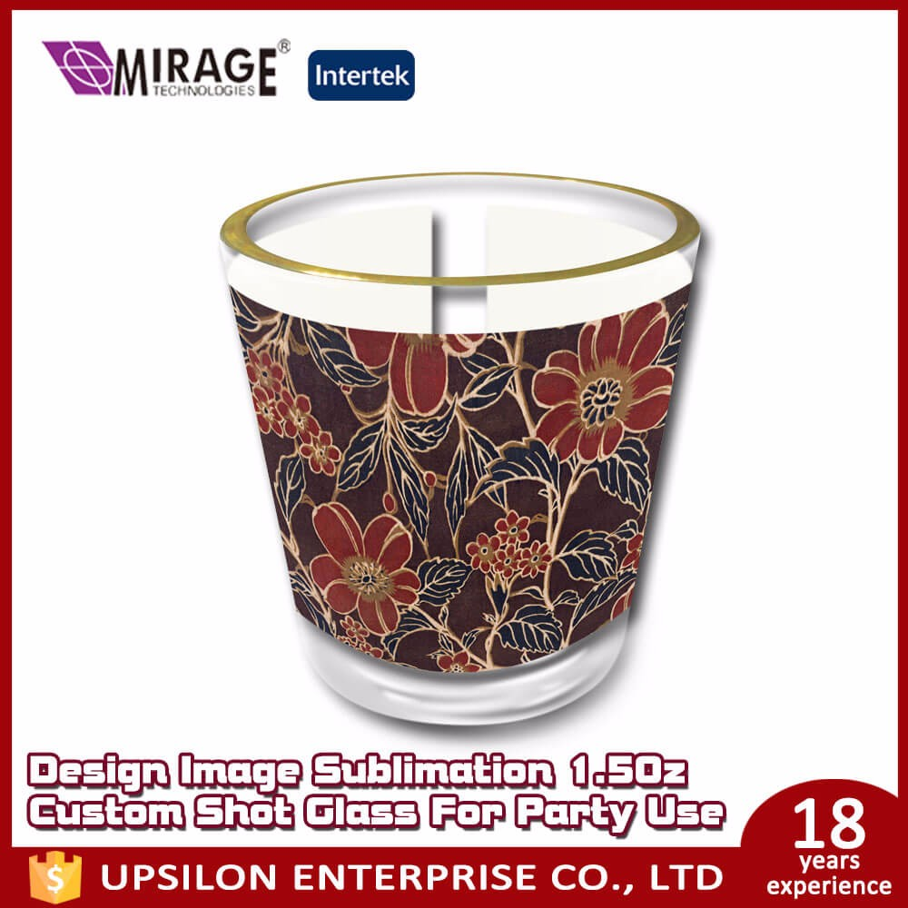 Design Image Sublimation 1.5Oz Custom Shot Glass For Party