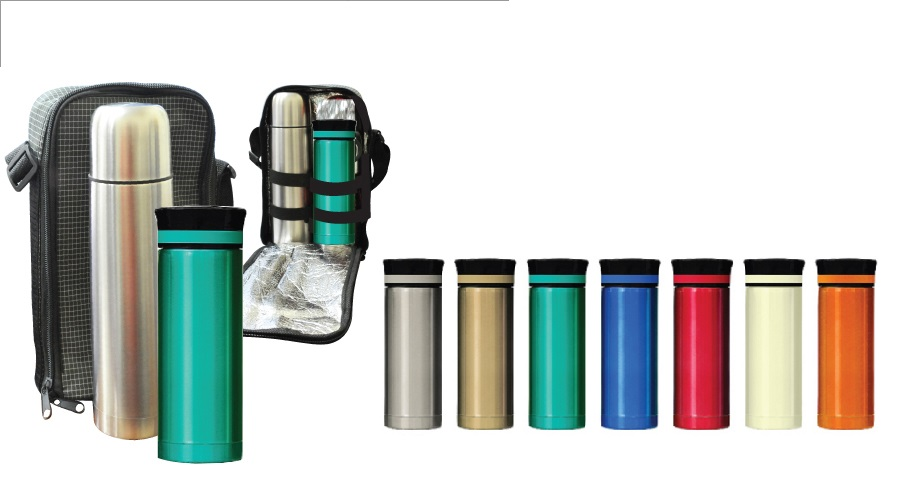 43201 Thermos Flask and Mug Set with personalised logo printing