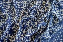 SWIMWEAR MANUFACTURER INDIAN BLOCK PRINT INDIGO SOFT COTTON PRINTED FLORAL FABRIC