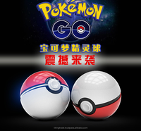 China factory Global hot supplier 2016 Mobile game Cosplay Pokemon Go Pokeball 12000 Mah LED phone Charge Power Bank