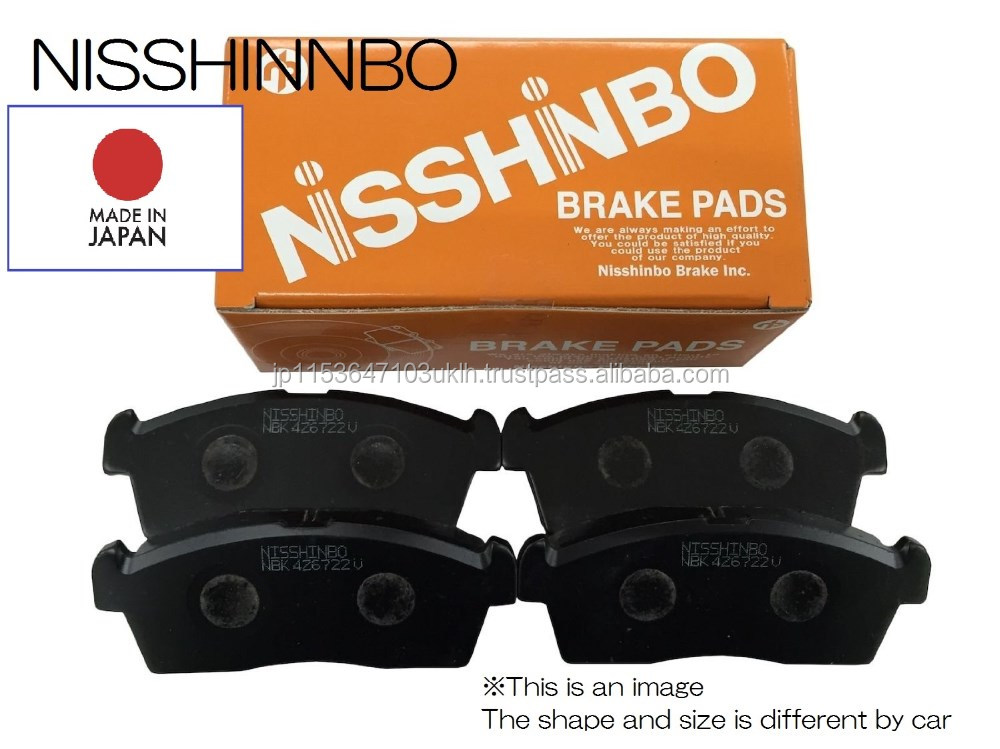 Brake pads Front Rear Nisshinbo Industries Made in Japan