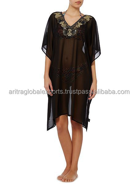 Embellished Kaftan Beach Wear