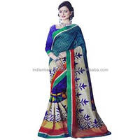 Traditional Indian Party Sari Designer Bollywood Wedding Art Silk Saree Dress NSR3059B