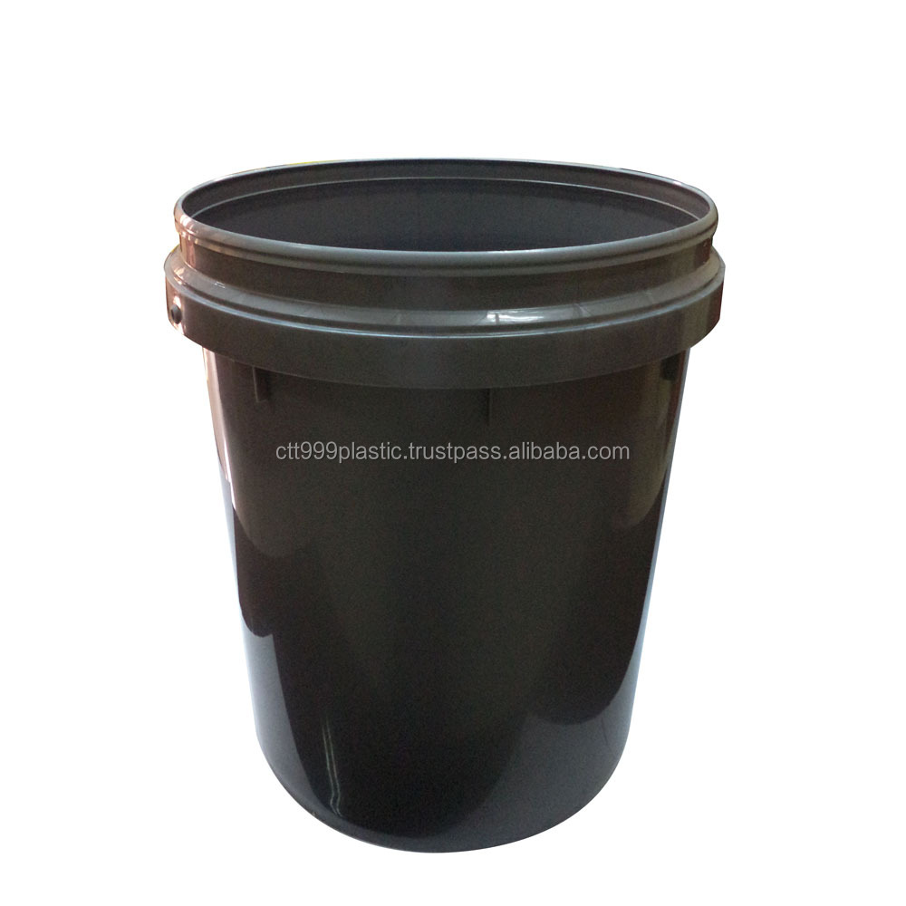 18L bucket plastic pail for lubricant, paint, other container usage
