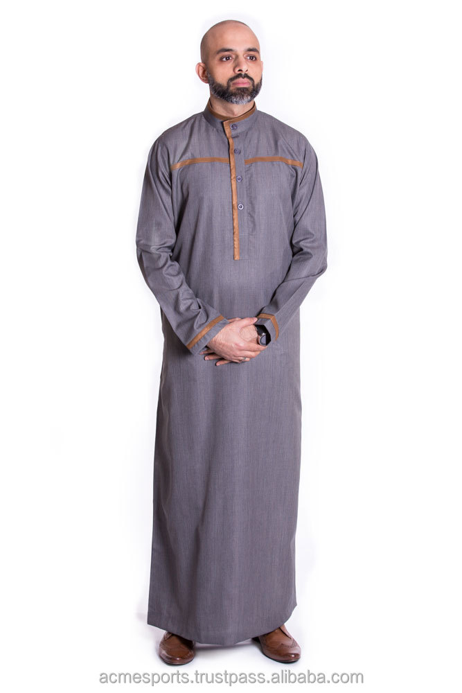 Al Daffah Thobes - 2017 new design for Mens Thoube Jubba Jalabiyah Daffah Al Aseel Style Muslim Dress