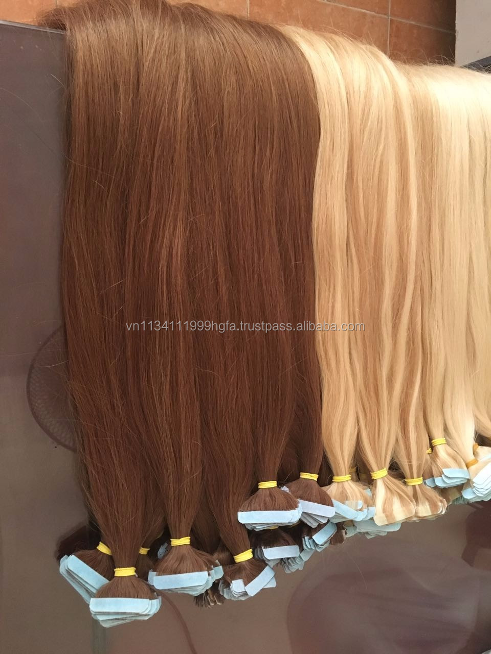 Italian Glue Tape Hair Extension #22 #613 #6 400g Straight machine Weft Hair Extensions 2016