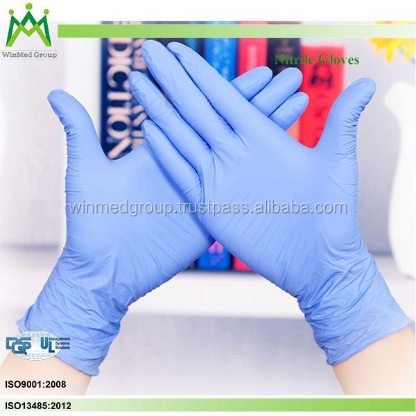 Chemical Resistant Nitrile Exam Gloves/Free Sample Blue Powder free Disposable Nitrile Examination Gloves