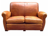 living room aniline leather two seated sofa