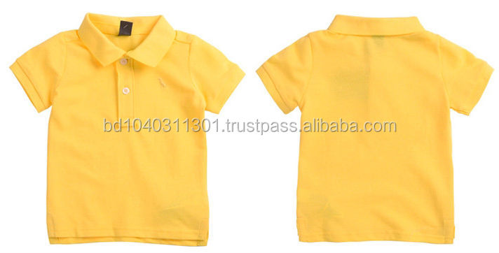 Spanish children blank polo shirts for export