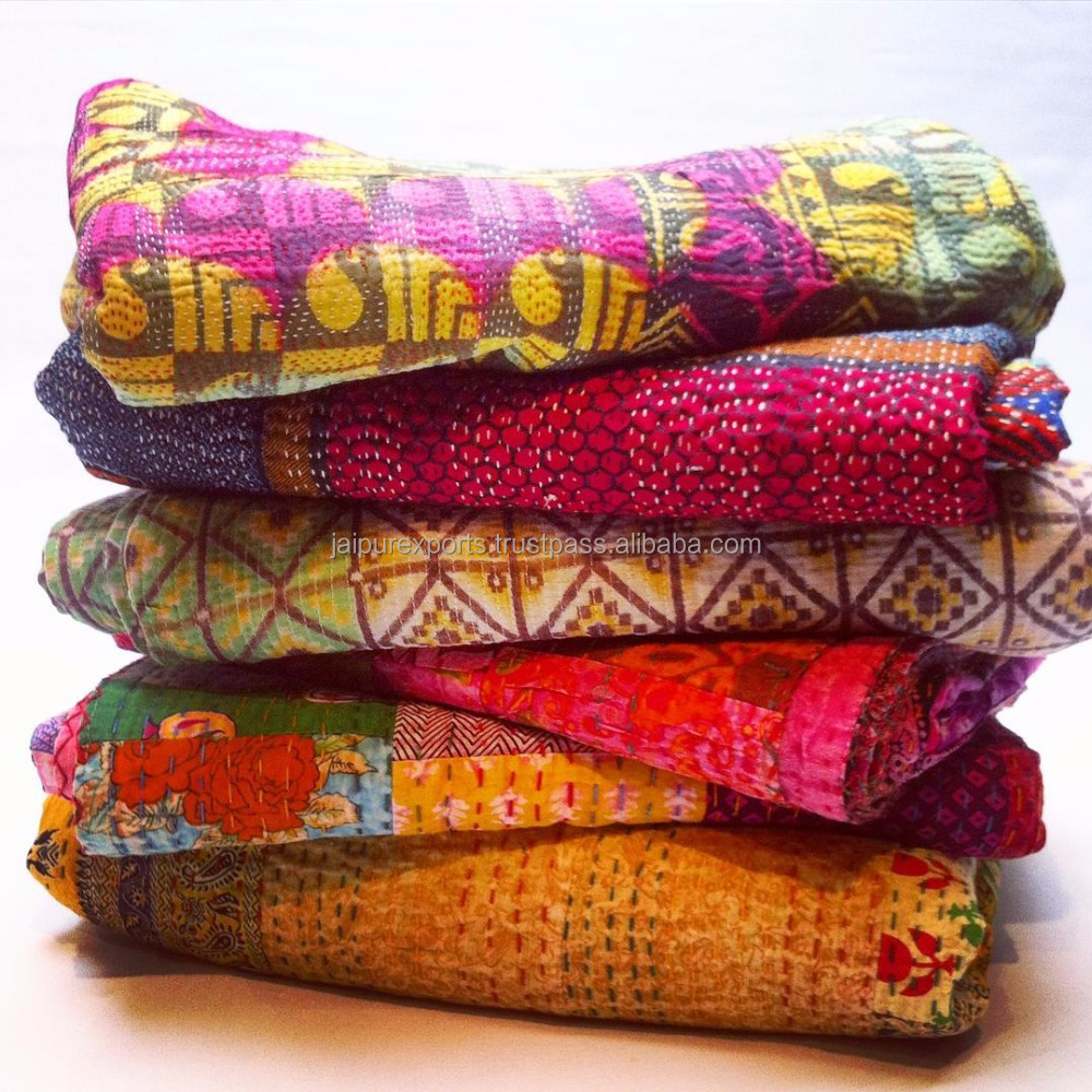 wholesale vintage kantha quilts made in india