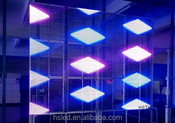 PH12.5-12.5 High brightness glass transparent LED display screen/video transparent led screen/full color led display
