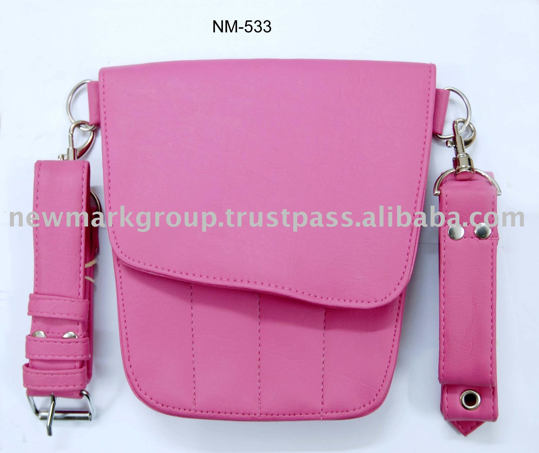 High Quality Pink Color Cosmetic Leather Bags