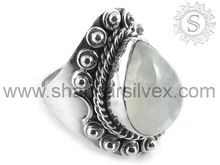 Huge Selection of 925 Silver Rainbow Moonstone Ring Handmade Silver Jewelry Indian Silver Manufacture