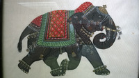 custom handmade elephant theme paintings available with frames on silk, canvas or paper suitable for home decor