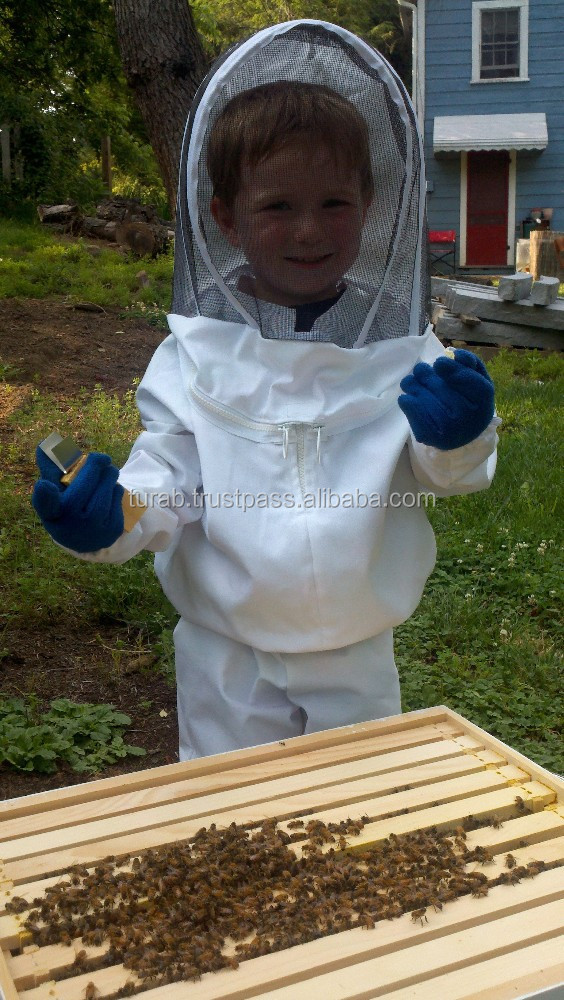 Kids Beekeeping bee suit, kids body protective suit with hat and veil for complete protection