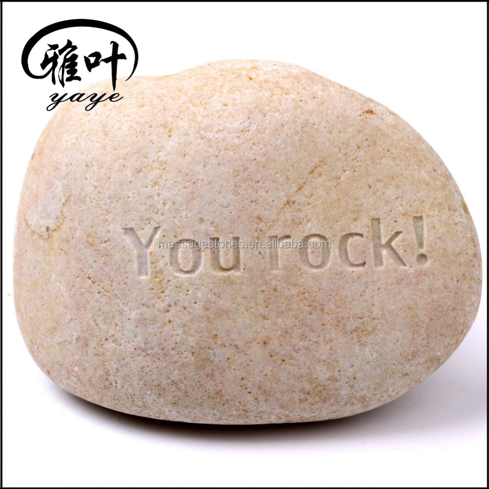 Bulk Wholesale Engraved Words Rock Garden Stones