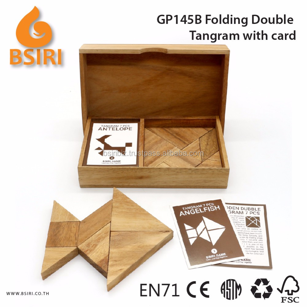 Wooden Tangram Puzzles for Kids Educational Toys