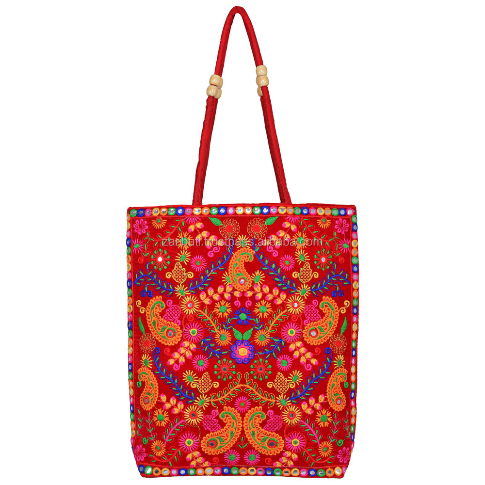 BHBR-2 Embroidered Rajasthani Mirror Work Hand Clutches , Banjara Tote Bags, Ethnic Clutches