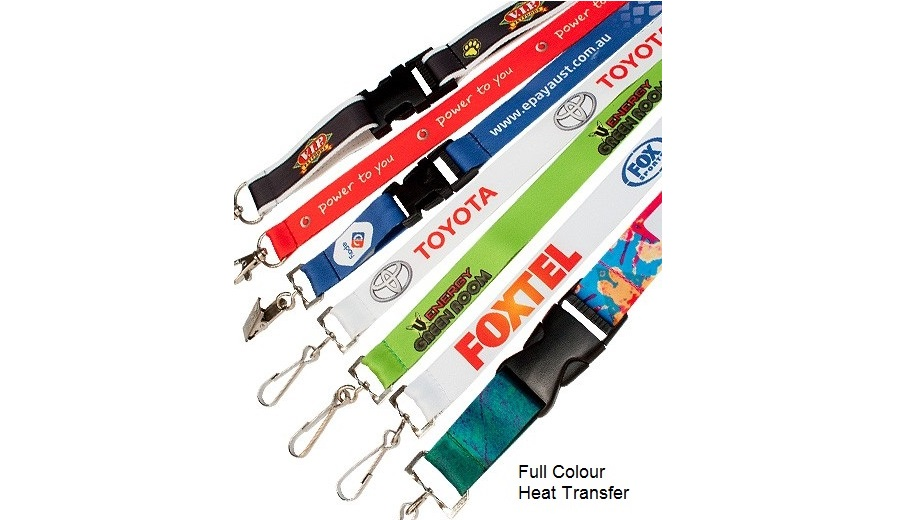 80602 Full Color Heat Transfer Lanyard with personalised logo printing
