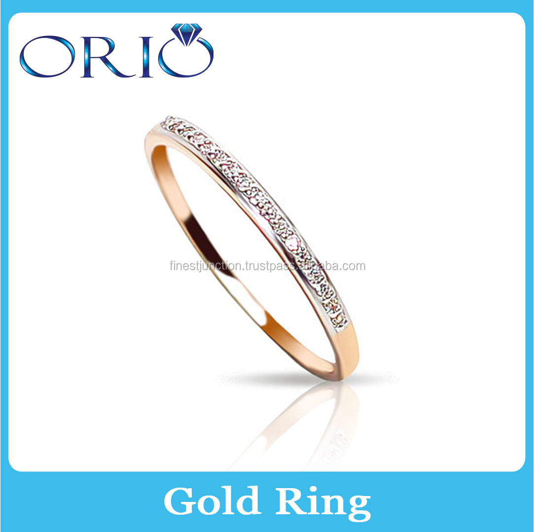 New Collection Luxury Diamond Wedding Jewelry 14k Gold Full Finger Ring Trendy Most Popular New Model