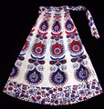 Indian Mandala Beach Skirt Cotton Jaipuri Printed Boho Hippie Gypsy Wrap Around Skirt