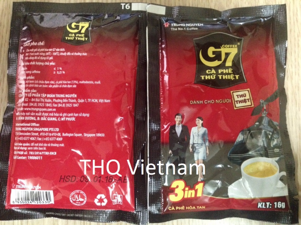 10 G7 Coffee 3 in 1 21 Sachets x 16gr(336gr)