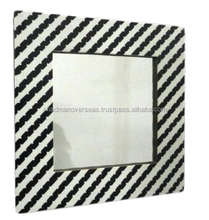 Black and white Resin inlay Mirror frame for home and wall decoration MF-12630