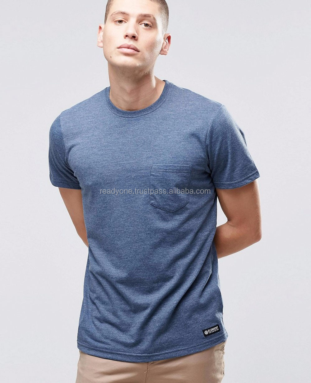 Men Wear - Fashion Wear - Summer Wear - O Neck T-shirts with Front Pocket