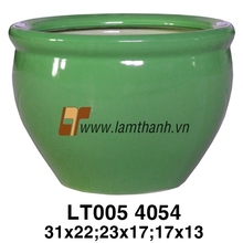 Vietnam Oval Decorative Green Indoor Pottery For Wholesalers