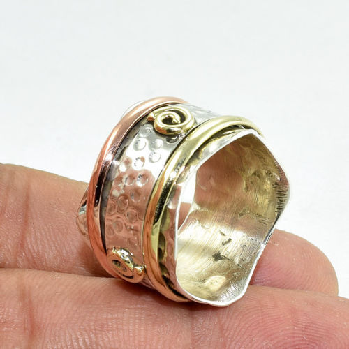Solid 925 Sterling Silver Copper With Brace LATEST NEW Ring Jewellery