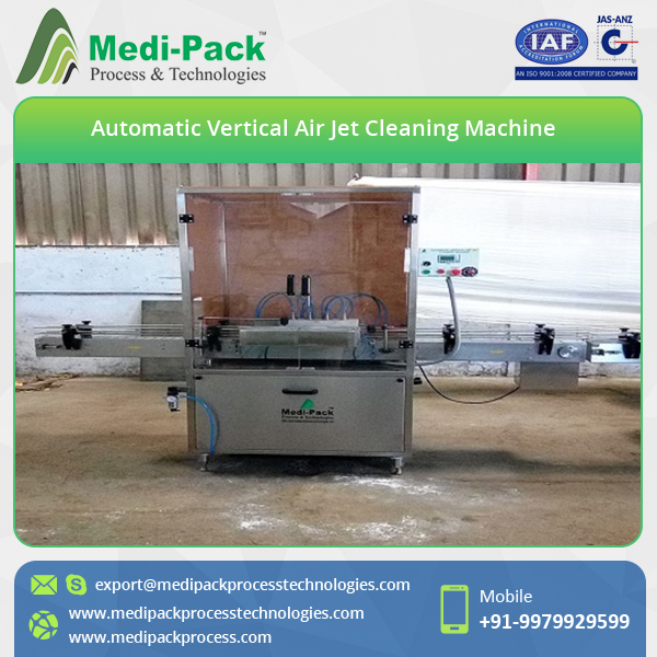 Six Head Vertical Air Jet Bottle Cleaning Machine