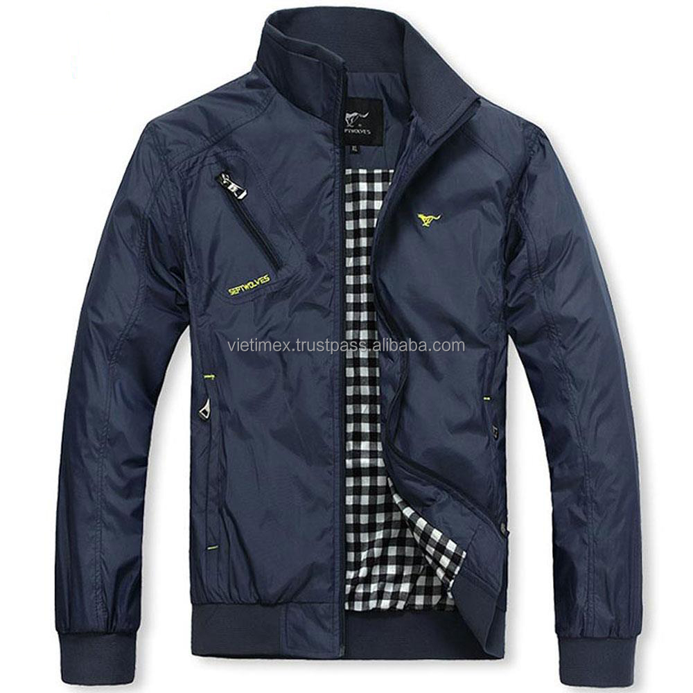 Casual Bomber Windbreaker Overcoat Jacket For Men