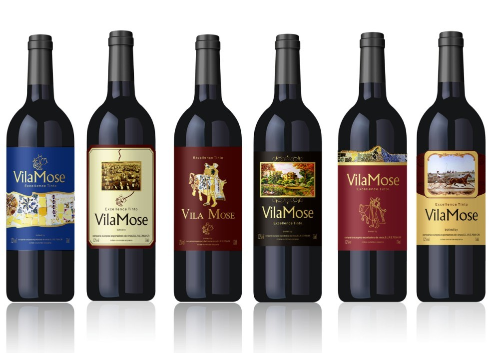 Vila Mose Red Spanish Wine 12% (from 0,69 eur/bottle) OEM FREE