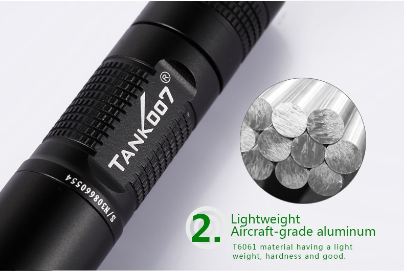 100% blocking visible light high intensity 365nm led UV Flashlight blacklight updated with black lens filter