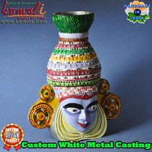 Indian metal mask handicraft home decor product maker custom pewter casting