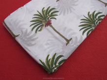 Indian Handmade palm tree Printed Running Fabric 100% Cotton wholesale