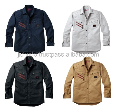 For logistics workwear / Functional designed uniform shirts. Made by Japan