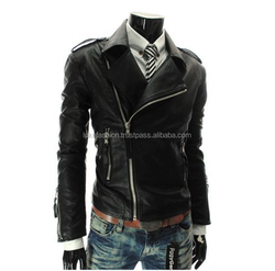 LUKE APPARELS- Wholesale New Design High Quality Men's Slim fit Zipper Designed PU Leather jacket for men Coat M-2XL in stock